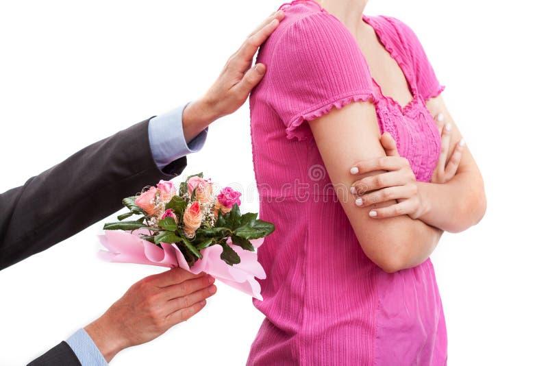 Fleurs comme consolation image libre de droits