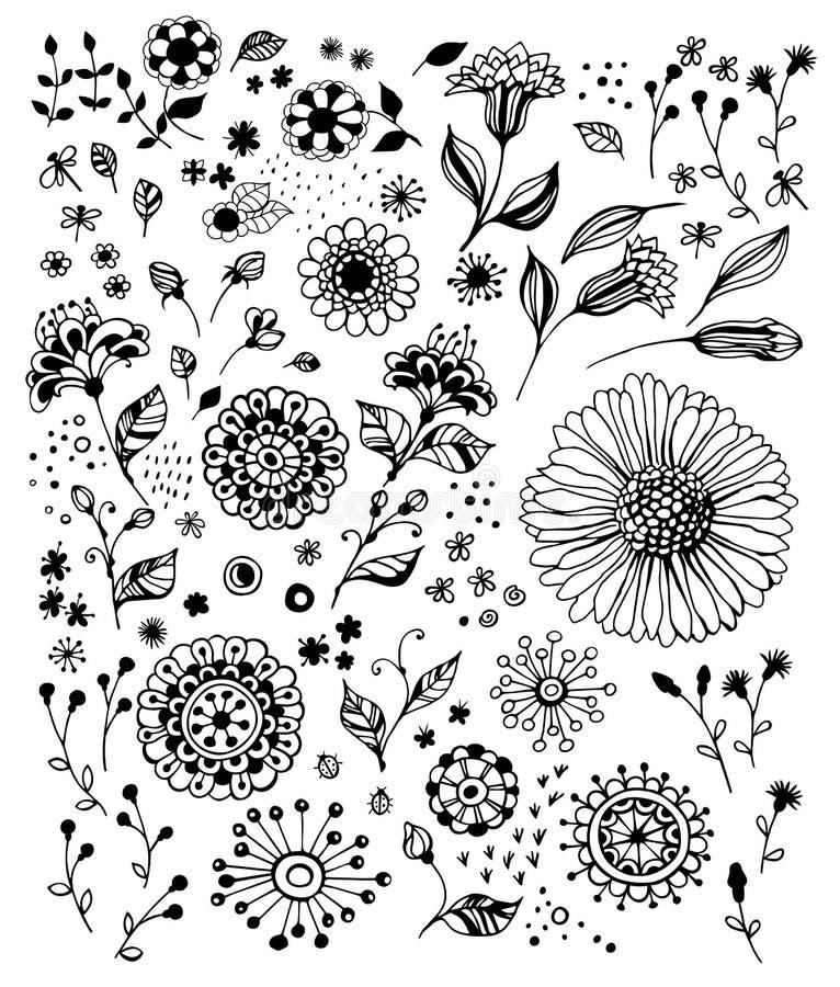 Fleurs décoratives illustration de vecteur