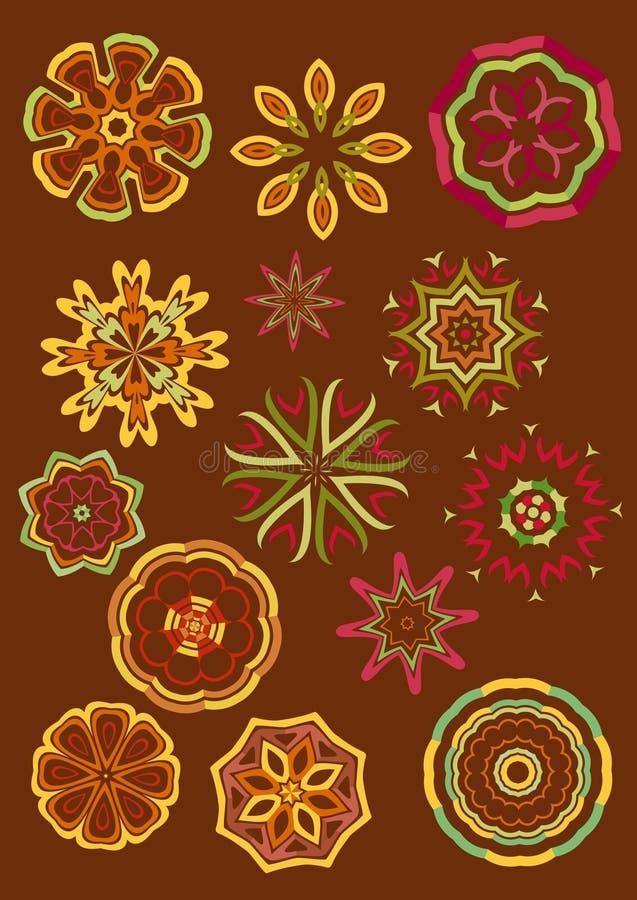 Fleurs décoratives, vecteur illustration de vecteur