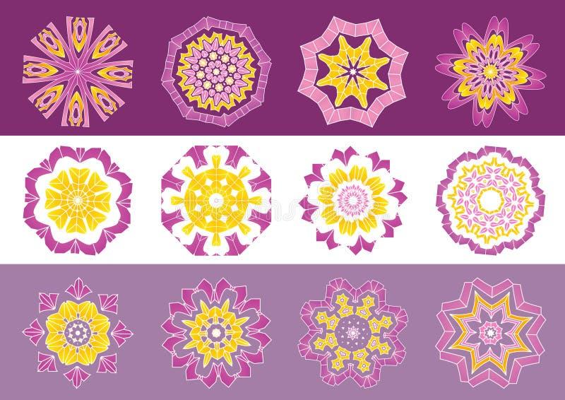 Fleurs décoratives, vecteur   illustration stock