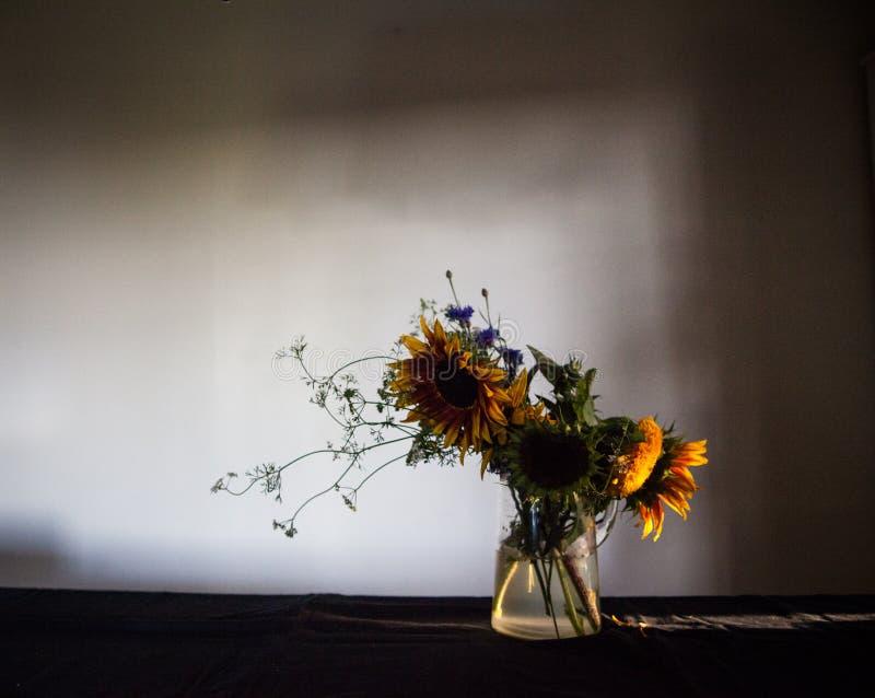 Fleurs déprimées d'été image stock