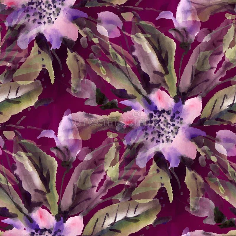 Fleurs d'aquarelle illustration stock