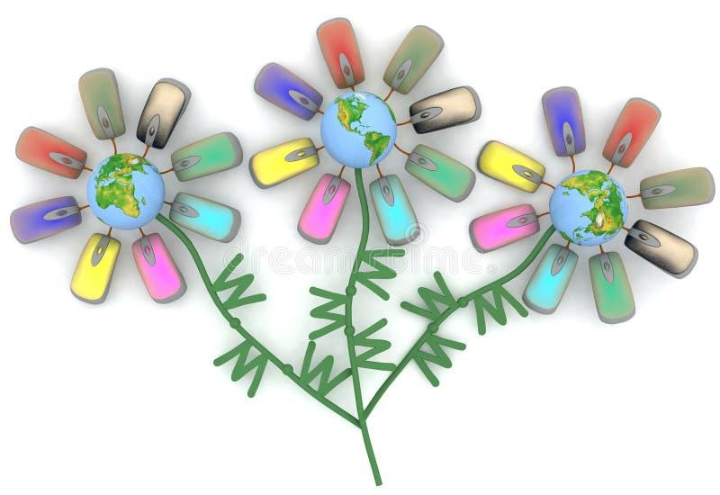 Fleurs d'Internet illustration stock