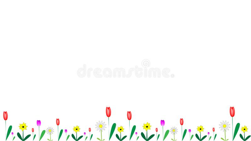 Fleurs dans la bannière différente de formes illustration libre de droits