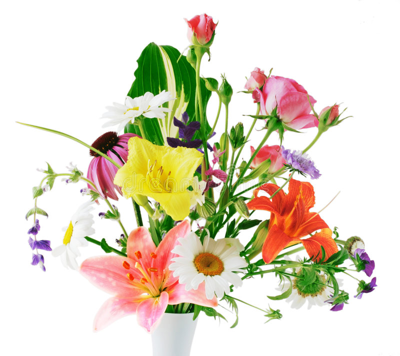 Fleurs dans le vase photographie stock libre de droits