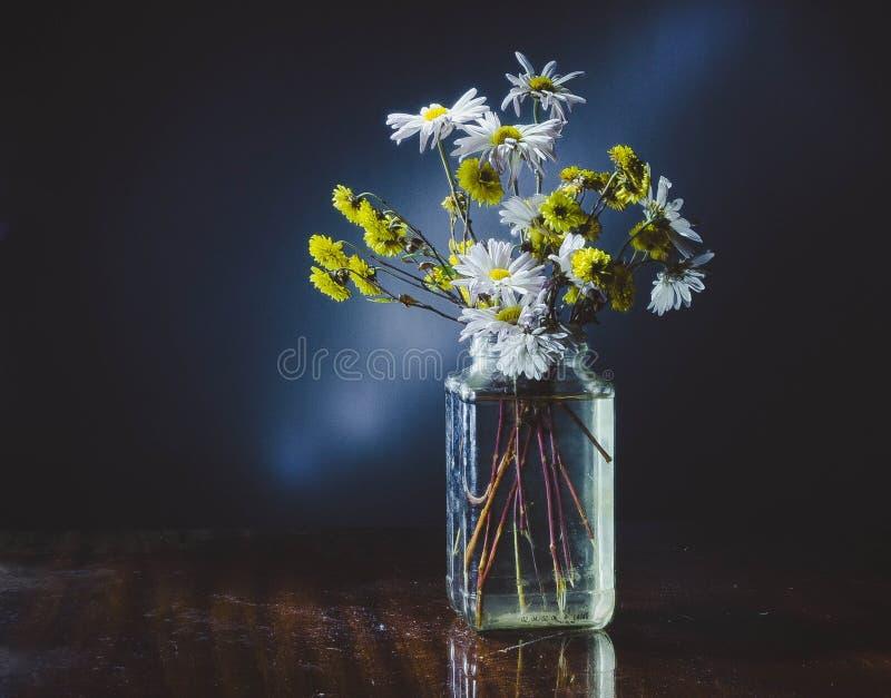 Fleurs dans un vase images stock