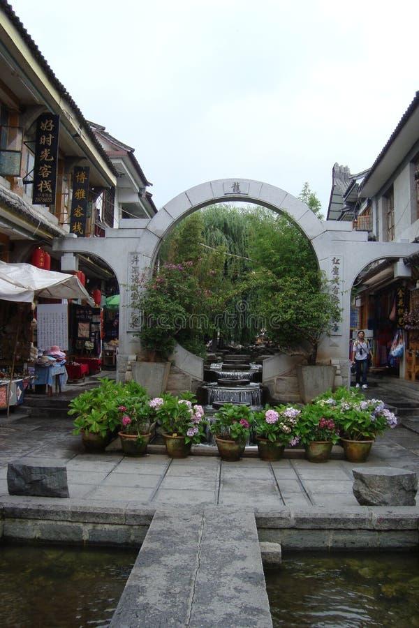 Fleurs dans Yangshuo photographie stock libre de droits