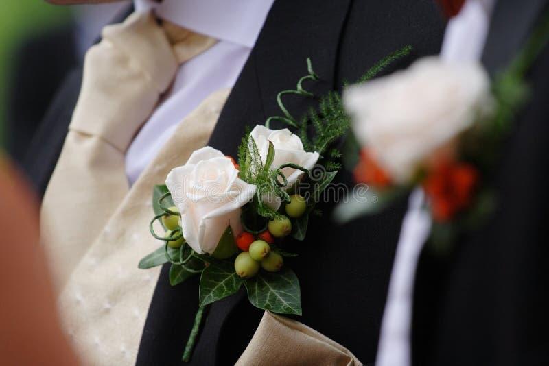 Fleurs de boutonnière photos libres de droits