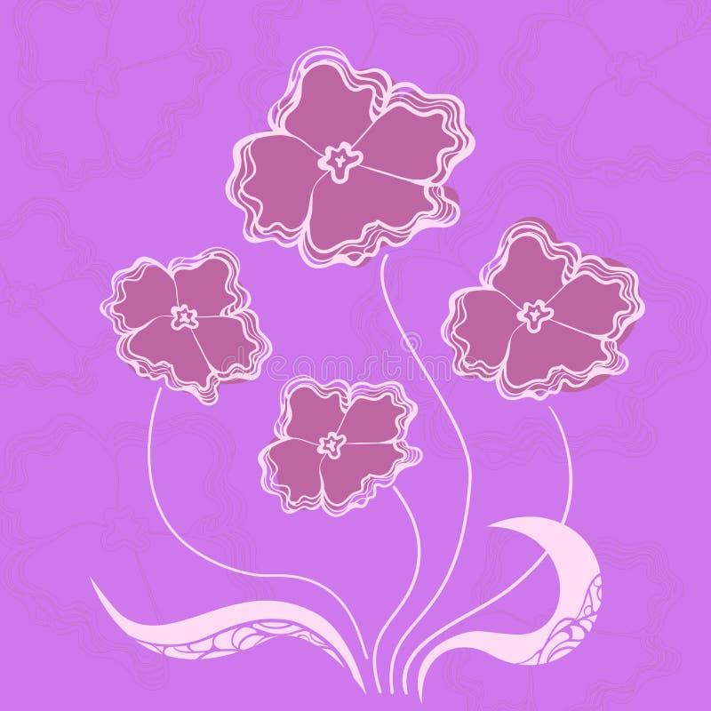 Fleurs de Bush, illustration de vecteur illustration stock
