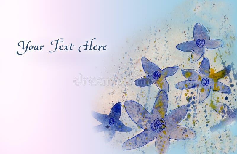 Fleurs de carte de voeux illustration de vecteur