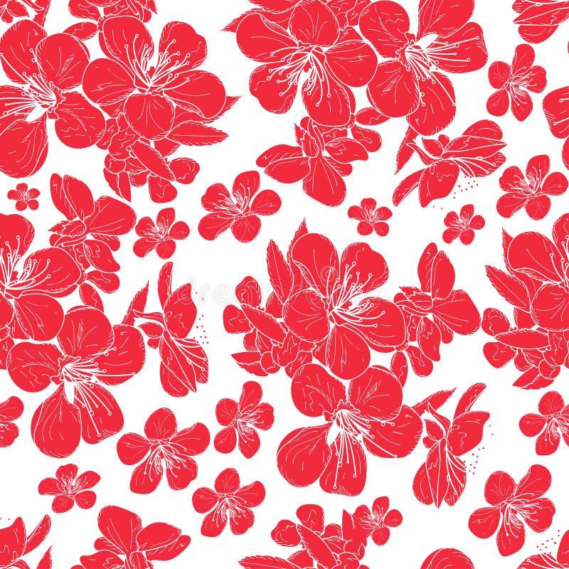 Fleurs de cerise illustration libre de droits