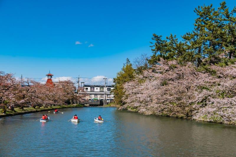 Download Fleurs De Cerisier Au Parc De Château De Hirosaki Image éditorial - Image du fossé, canal: 76089620