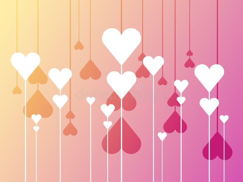 Fleurs de coeur illustration de vecteur