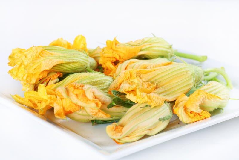 Fleurs de courge orange photos stock