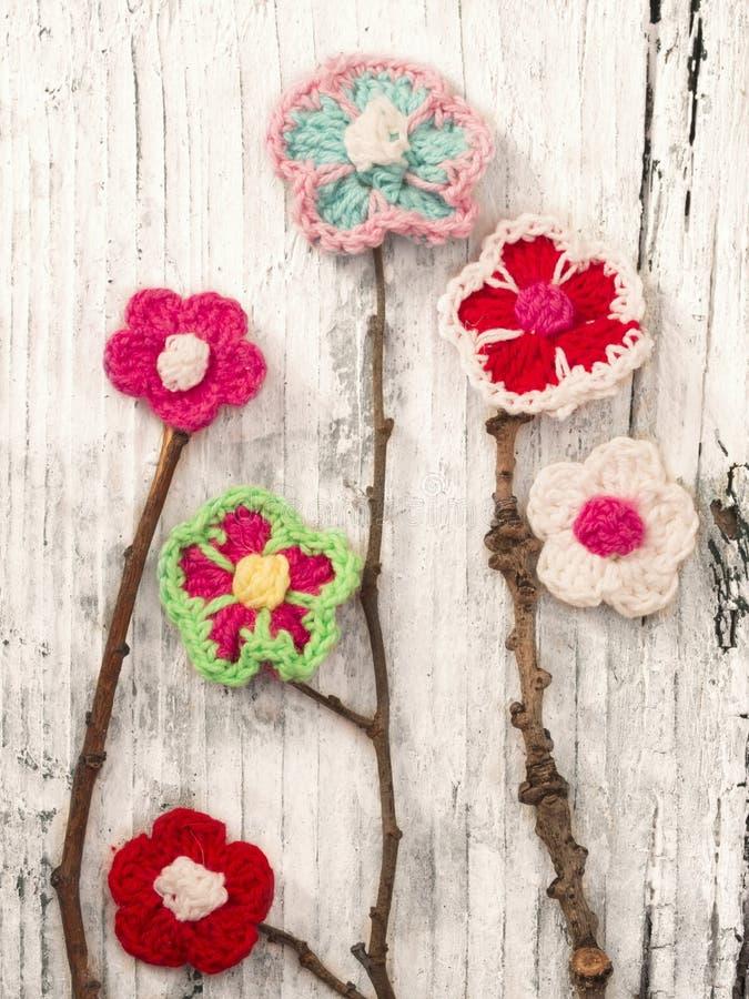 Fleurs de crochet photographie stock