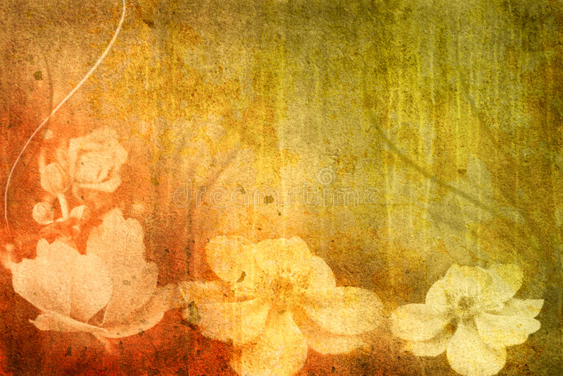 Fleurs de cru illustration libre de droits