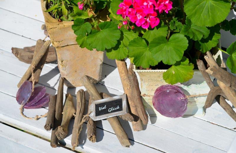 Fleurs de décoration de jardin d'été photos stock