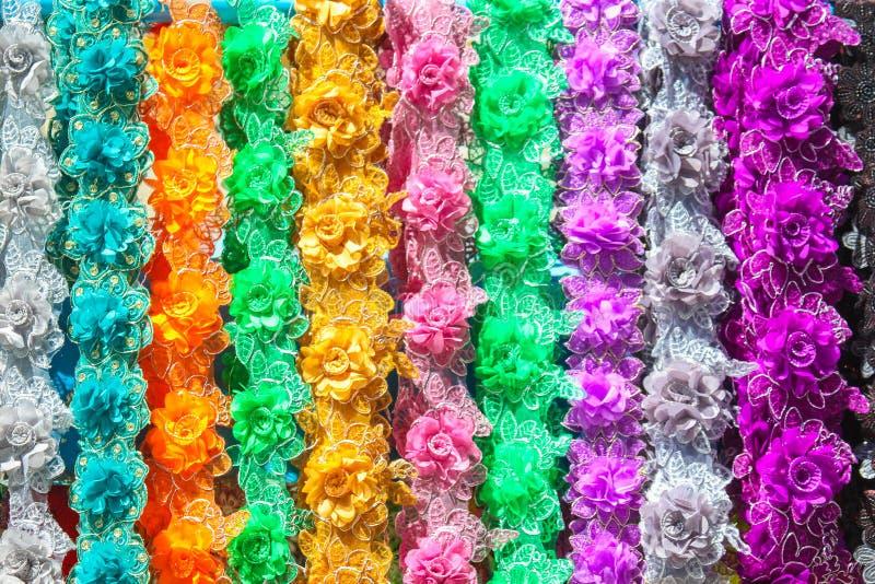 Fleurs de dentelle de textile pour la décoration photo libre de droits