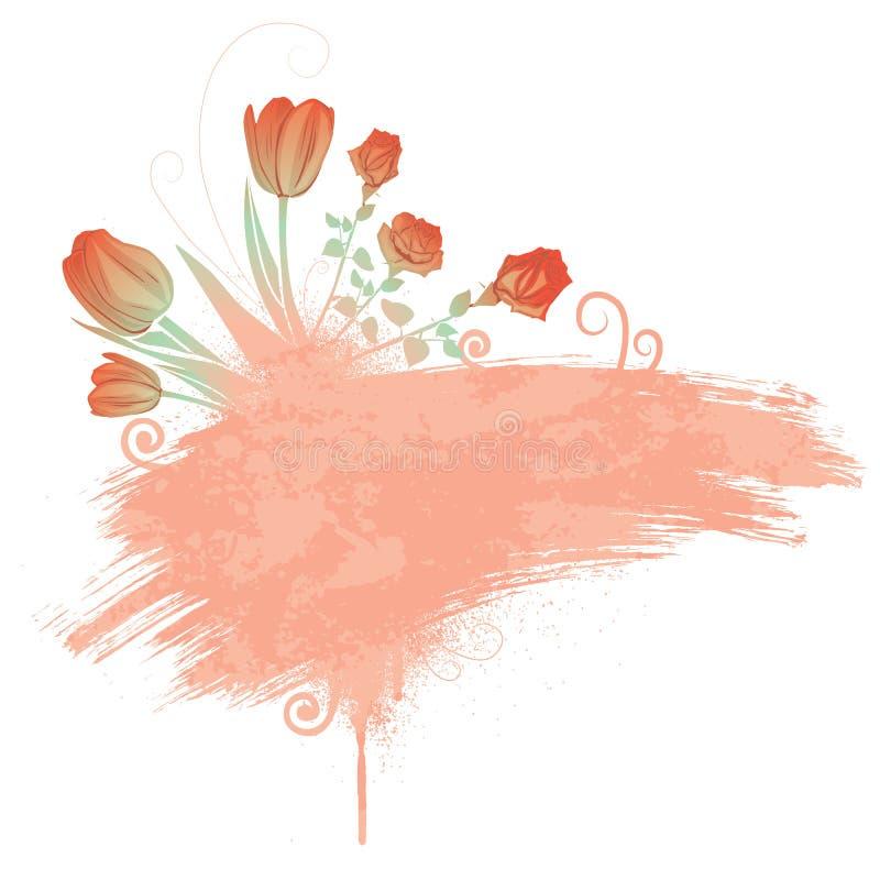 Fleurs de fond de ressort illustration libre de droits