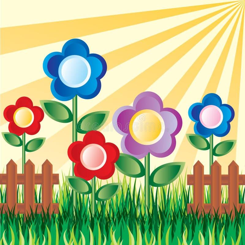 Fleurs de jardin illustration de vecteur