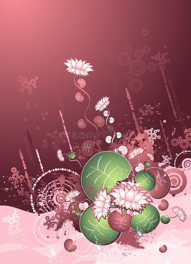 Fleurs de lotus, lames, vecteur illustration libre de droits