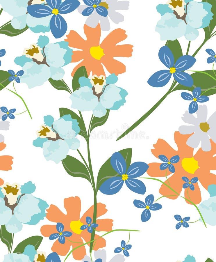 Fleurs de modèle de texture illustration de vecteur