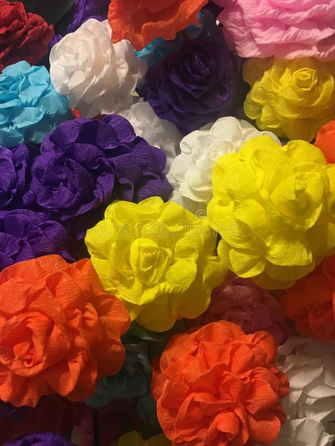 Fleurs de papier vibrantes photos libres de droits