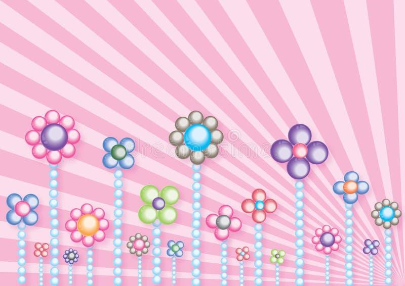 Fleurs de perle illustration stock