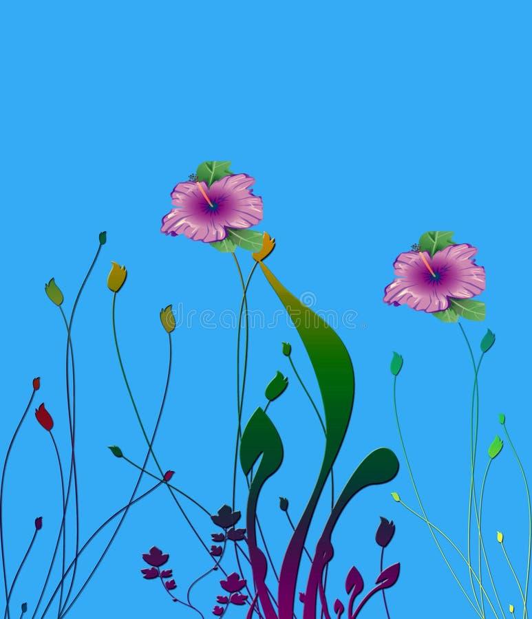 Fleurs de Photoshop illustration stock