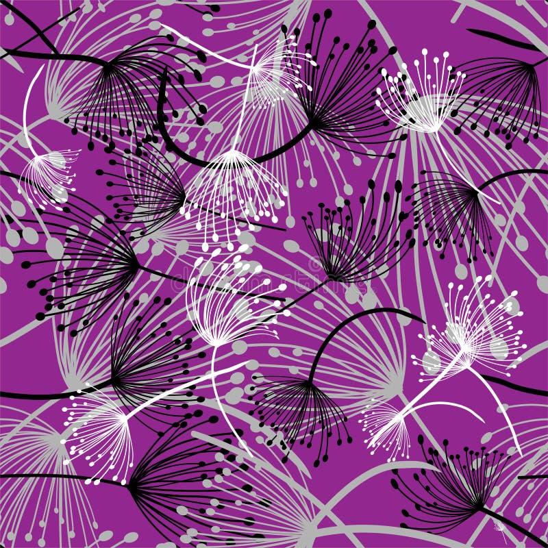 Fleurs de pissenlit, mod?le sans couture, illustration ENV 10 de vecteur illustration libre de droits