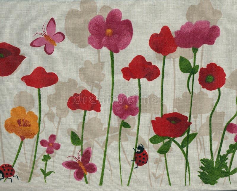 Fleurs de ressort, buterfly et coccinelle illustration de vecteur