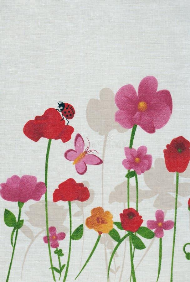 Fleurs de ressort, buterfly et coccinelle illustration stock