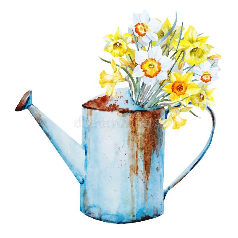 Fleurs de ressort d'aquarelle illustration libre de droits