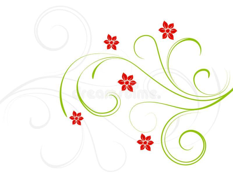 Fleurs de rouge d'élégance illustration de vecteur