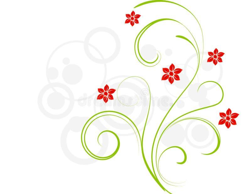 Fleurs de rouge d'élégance illustration stock