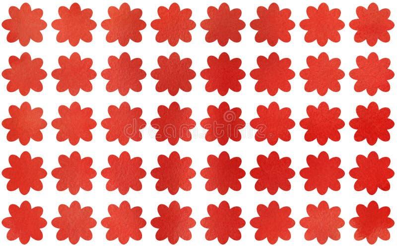 Fleurs de rouge d'aquarelle illustration stock