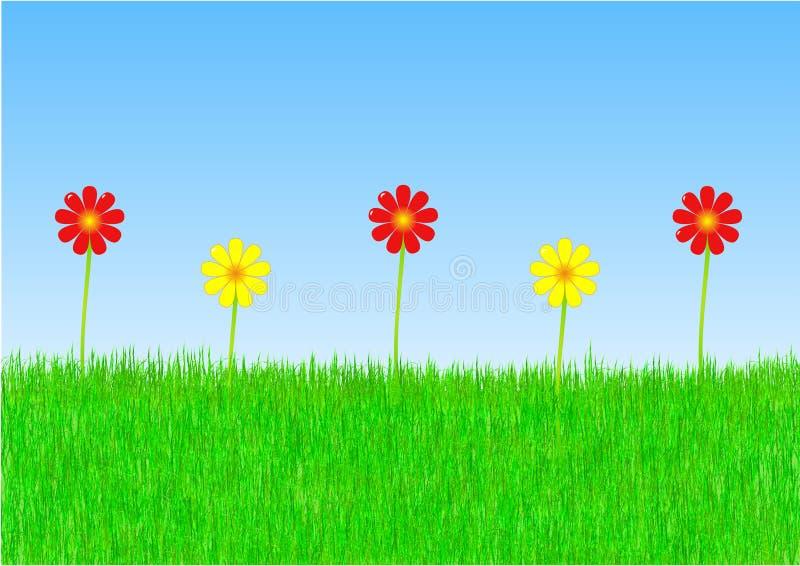Fleurs de source illustration de vecteur
