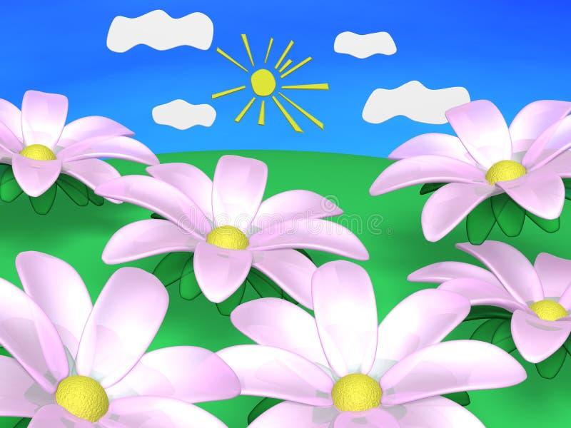 Fleurs de source. illustration stock