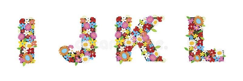 Fleurs de source d'IJKL illustration libre de droits
