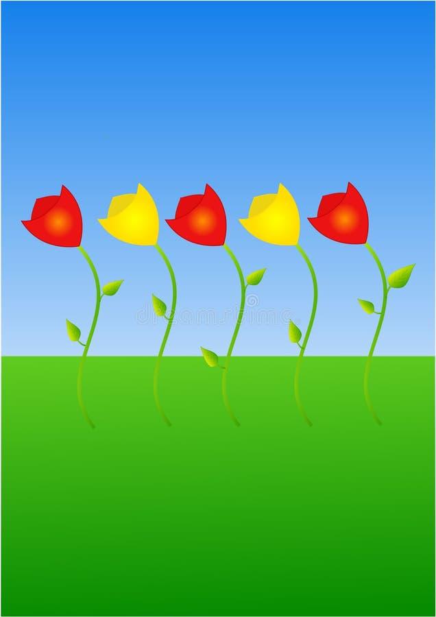 Fleurs de tulipe illustration de vecteur