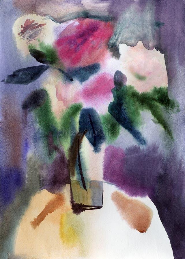 Fleurs de Watercolour illustration de vecteur