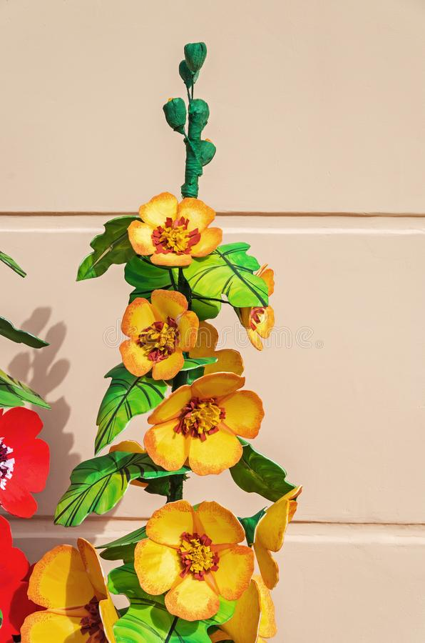 fleurs en plastique artificielles photo stock