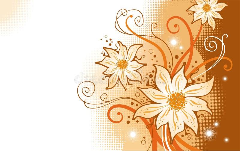 Fleurs et branchements en filigrane illustration de vecteur