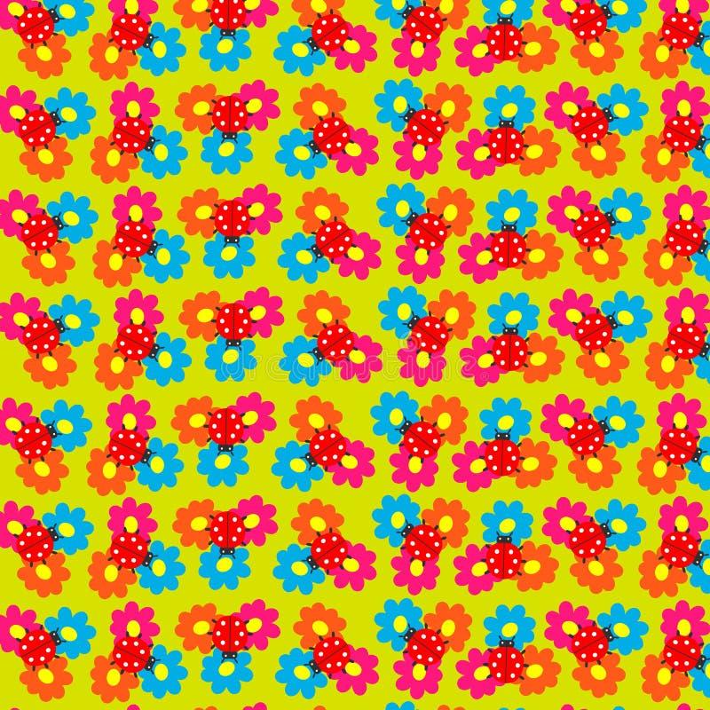 Fleurs et coccinelle photos libres de droits