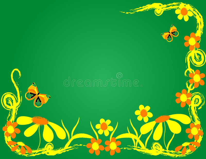 Fleurs et guindineaux illustration stock