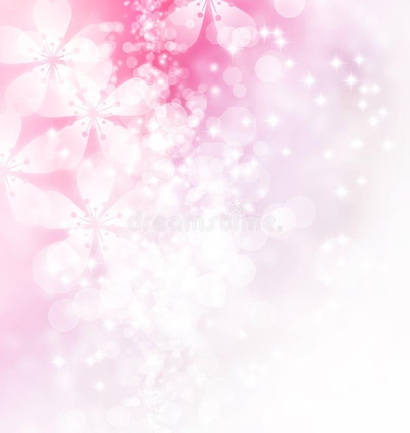 Fleurs et illustration de Bokeh illustration de vecteur