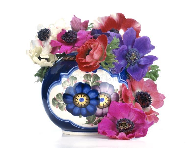 Fleurs et lames photo stock