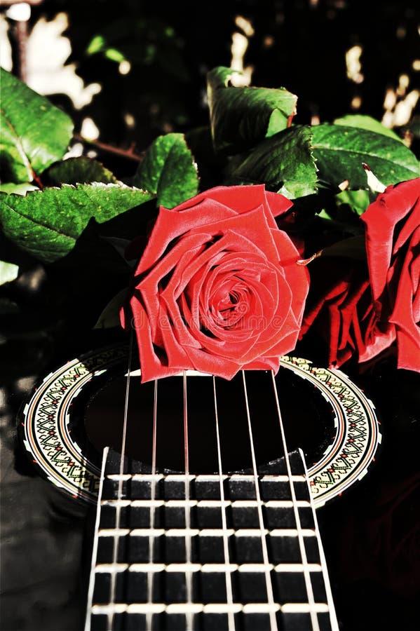 Fleurs et notes musicales, symboles images stock