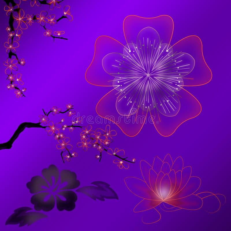 Fleurs et plantes abstraites illustration libre de droits