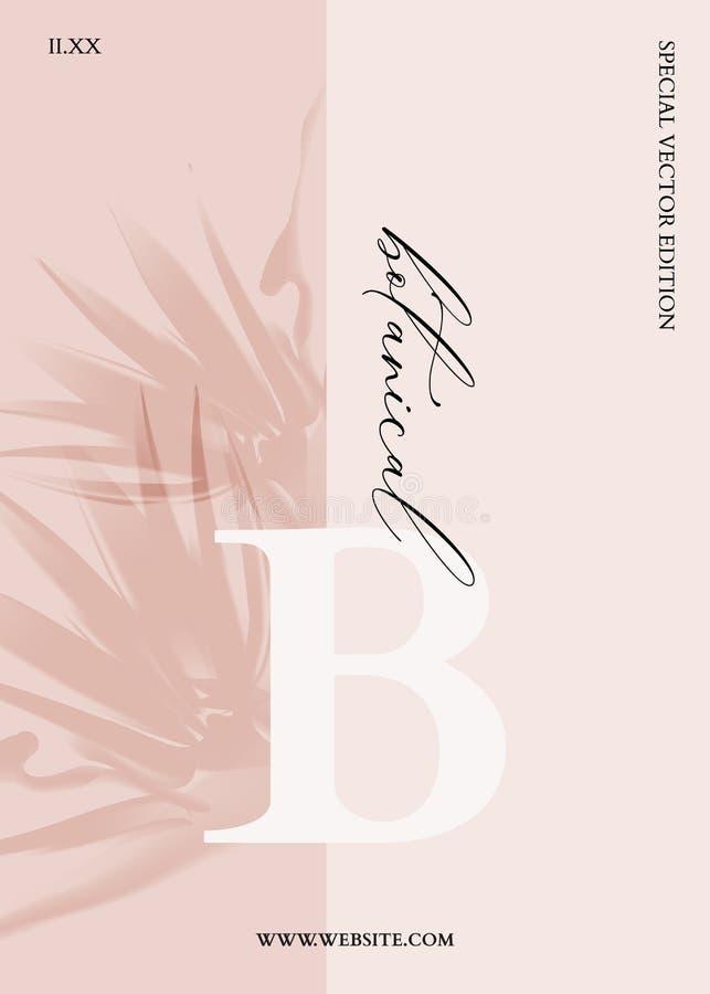 Fleurs exotiques botaniques sur fond beige Fleurs réalistes en 3d sur carte de voeux d'été, design nature, invitation moderne illustration de vecteur